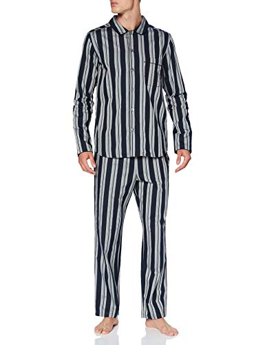 Seidensticker Herren Men Pyjama Long Pyjamaset, Nachtblau, 048