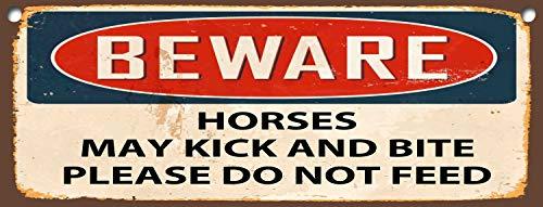 Thomas655 Wees voorzichtig paarden kunnen trappen en bijten, gelieve geen metalen SignFridge magneet wanddeur plaatje