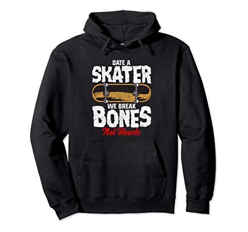 Date A Skater Skateboarding & Skateboard Pullover Hoodie