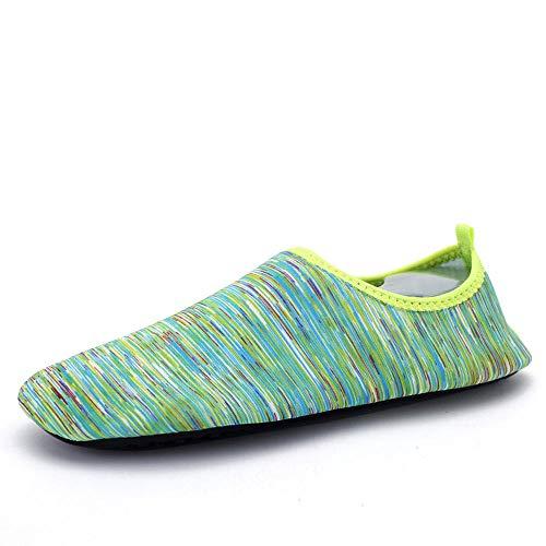 Zwemschoenen blote voeten zachte schoenen Yoga schoenen mannen en vrouwen sneldrogende ademende zwemschoenen volwassenen kinderen 41-42 Vliegend groen