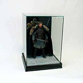 1/6th Scale Figurine Display Case - Comic Figurine - Crystal Clear Glass Protection - Black Moulding