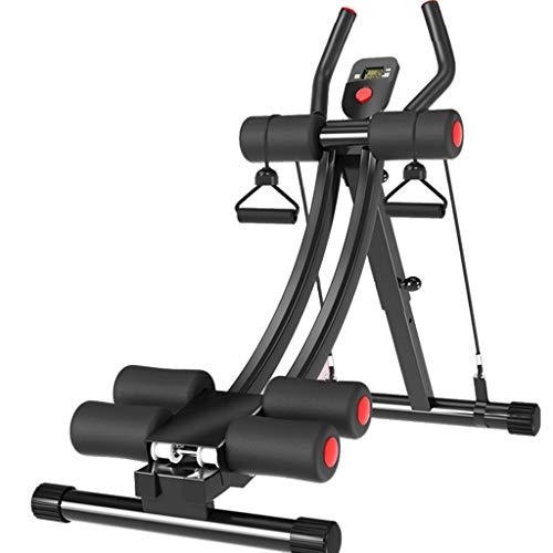 Bauchtraining Faltbare Hantelbank Pull-up-Fitnessgeräte Multifunktionales Gewichtheberbett Bankdrücken Langhantelständer Squat-Gestell (Color : Black, Size : 40 * 90 * 90cm)