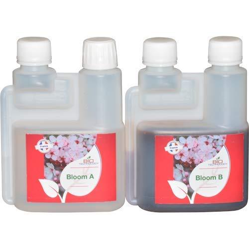 Bio Technology® | Fertilizante de Floración de Calidad | Fertilizante de Floración Universal | Gran Rendimiento y Aroma Bloom A + B - 250 ML