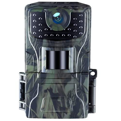 Fototrappola Caccia 20MP 1080P Infrarossi 850NM LED Invisibili con Adatto per il Monitoraggio Della Sicurezza Design ,Esterni Natura, Impermeabile IP66 Camera per la Caccia