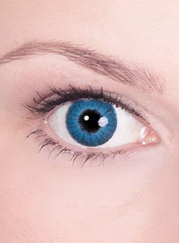 Kontaktlinsen Jahreslinsen Blaue Iris - Motivlinse mit Sehstärke - Dioptrien: -1,5 - ideal für Halloween, Karneval & Motto-Party