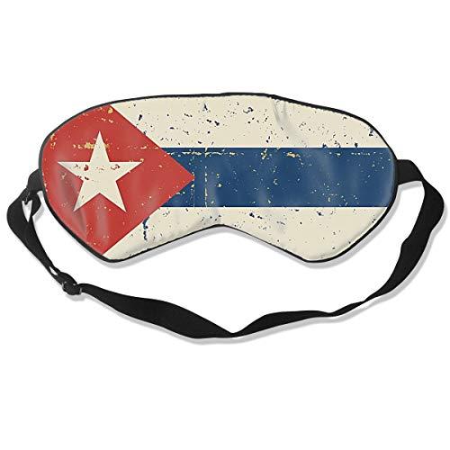 Máscara de sueño, venda, antifaz supersuave, diseño retro de la bandera cubana