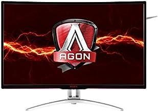 "AOC Agon AG322QCX 31.5"" Curved Frameless Gaming Monitor, QHD 2560x1440 VA Panel, FreeSync, 144Hz, 4ms, DisplayPort/HDMI, VESA"