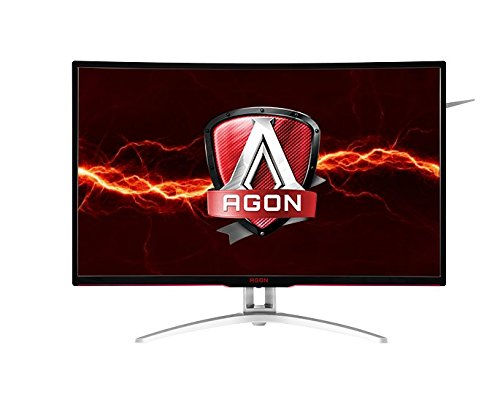 AOC Agon AG322QCX 31.5' Curved Frameless Gaming Monitor, QHD 2560x1440 VA Panel, FreeSync, 144Hz, 4ms, DisplayPort/HDMI, VESA