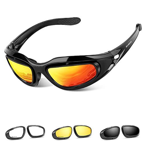 BELINOUS Polarized Motorcycle Riding Glasses Goggles for Men