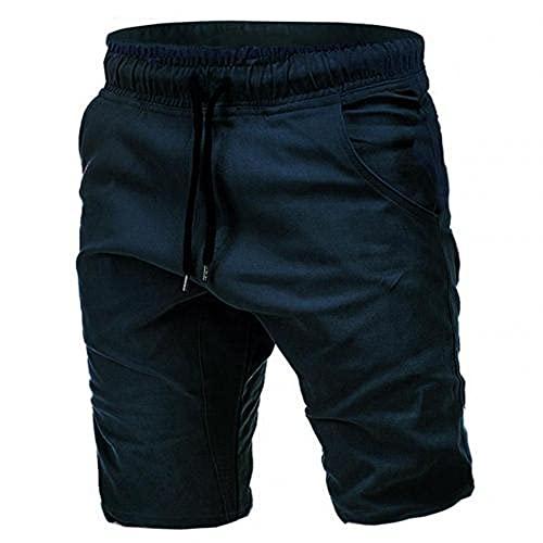Pantalones Cortos De Color Puro Cortos Casuales para Cortos para Correr Transpirables De Verano Pantalones Cortos con CordóN para Pantalones De Cinco Puntos Cortos para Hombres Cortos para