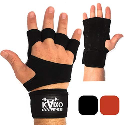 guanti palestra con polsiera KAIXO FITNESS Guanti Crossfit per Allenamento