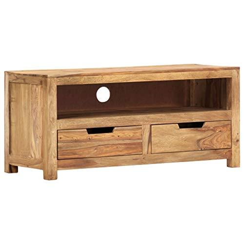 vidaXL Sheesham-Holz Massiv TV Schrank Fernsehschrank Lowboard Sideboard Fernsehtisch TV Möbel Board HiFi-Schrank Palisander 88x35x40cm