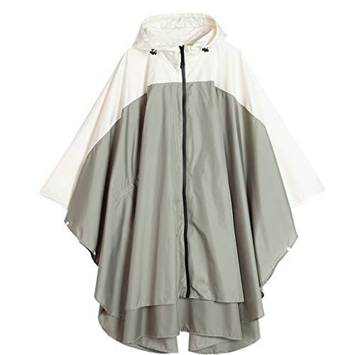 UUNDD Poncho lichtgewicht wandelen regenjas herbruikbare waterdichte militaire regenjas volwassen wandelen draagbare jas