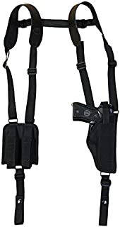 Barsony New Vertical Shoulder Holster w/Mag Pouch for Full Size 9mm 40 45 Pistols