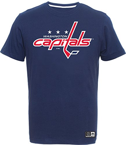 Majestic Athletic NHL Eishockey Logo T-Shirt Washington Capitals (S)