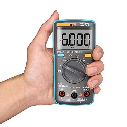 LHQ-HQ Rango automático multímetro digital portátil 6000 cuentas de luz de fondo del amperímetro del voltímetro y Ohm Tester