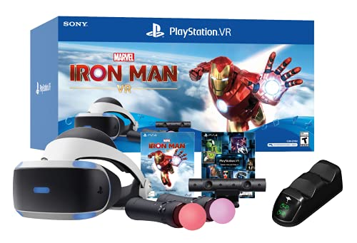 PlayStation VR Marvel's Iron Man VR Bundle W/Ghost Manta PS4 Charging Station Dock