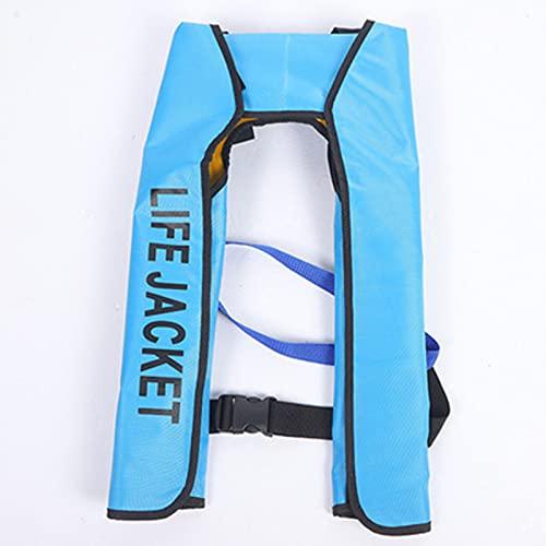 LEERAIN Chaleco Salvavidas, Chaleco Salvavidas, súper Flotante, Chaleco Salvavidas Completamente automático, para Adultos, Chalecos de natación para Deportes acuáticos, Kayak, navegación,Azul