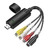 USB Video Capture Converter VHS a la grabadora de DVD digital Transferencia de la tarjeta de captura de audio para herramientas de Windows gratis