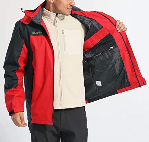 Waterproof Jackets For Men Windbreaker Jackets Mountain Jacket Quick Dry Running Rain Jacket Fishing Jacket Travel Jacket Camping Jacket