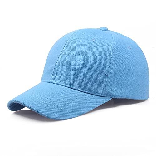Gorra Negra Gorra de béisbol de Color sólido Gorras Snapback Casquette Sombreros Ajustados Gorras Casuales Hip Hop Sombreros de papá para Hombres Mujeres Unisex-Sky Blue