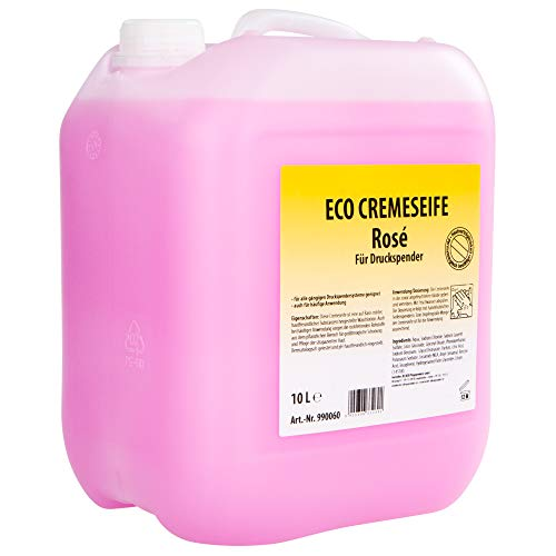 ECO Handseife CREME SEIFE Handseife Rosé für Druckspender 10 Liter Kanister