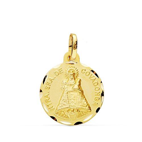 Alda Joyeros Medalla Virgen de Covadonga 18 Ktes 16 mm