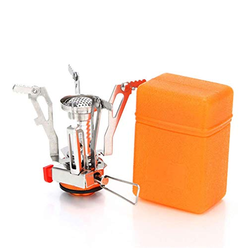 WggWy Portable Camping Stove,Stoves Pocket Stove with Piezo Ignition for Outdoor Backpacking Hiking Traveling Picnic BBQ Outdoor Accessories Gear,Orange