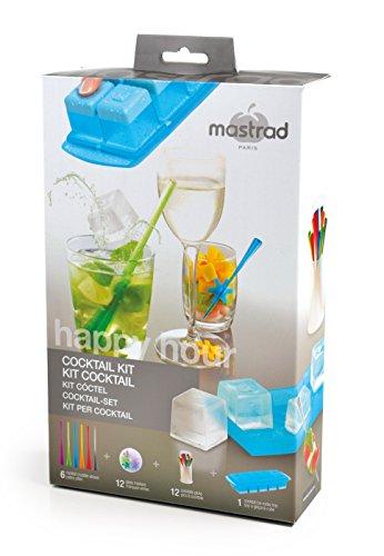 mastrad F01160 Kit Cocktail, Silicone, Multicolore, 17 x 5,8 x 29 cm