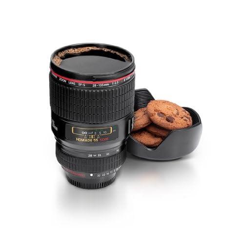 Mug Objectif avec Couvercle Homade Noir