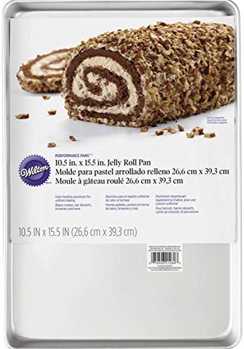 Wilton Jelly Roll Pan 10-1/2' X 15-1/2' Uncoated Aluminum