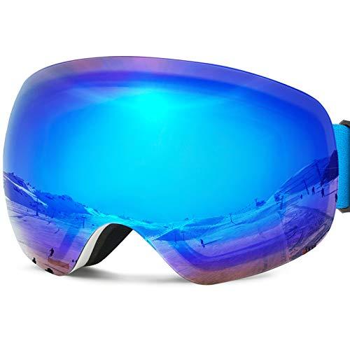 Ski Snow Goggles Over Glasses OTG UV Protection Sports Snowboard...