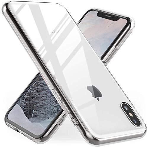 Whew Hülle Kompatibel mit iPhone X/XS, Anti-Vergilbung TPU Transparent Silikon Ultradünn Weich Schutzhülle, Kratzfest Stoßfest Durchsichtige Handyhülle Kompatibel mit iPhone X/XS