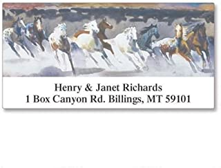 Wild Horses Personalized Return Address Labels- Set of 144, Large Self-Adhesive, Flat-Sheet Labels, By Colorful Images