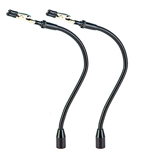 2 Pack Set Flexible Gooseneck Metal Arms with Alligator Clips for Helping Hands Third Hand Tool Automobile Electronics Soldering Jewelry Painting Art Crafts Hobby