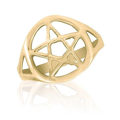 Phoenix Mall 10K Yellow Gold Ring famous Star Celtic