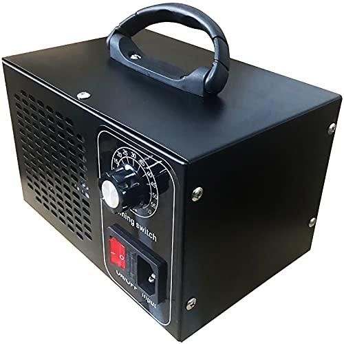ATWFS Industrial Generador de Ozono Purificador de Aire, 48.000 mg / h 60.000 mg / h Desodorizador de Ozono con Temporizador de 60 Minutos, Limpia Más de 300㎡ (Negro, 60000mg/H)