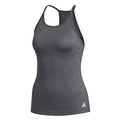 adidas Performance Tank W Camiseta sin Mangas, Mujer, Negro (Black Melange), L