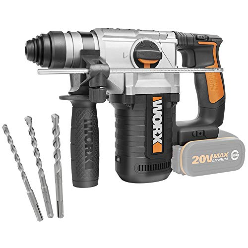 Worx WX392.9 Hammer mit 4 Funktionen, 2,2 J 20 V S/Bat