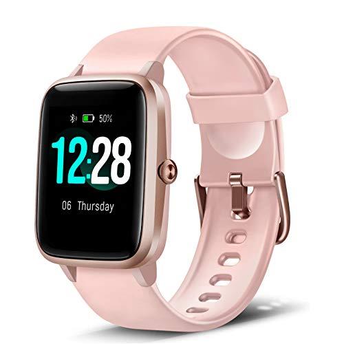 LETSCOM Smartwatch, Fitness Tracker 1,3 Zoll Farbdisplay Uhr mit Herzfrequenzmesser Schrittzähler und Schlafmonitor, wasserdicht Sportuhr für Frauen Männer für iOS Android Handy
