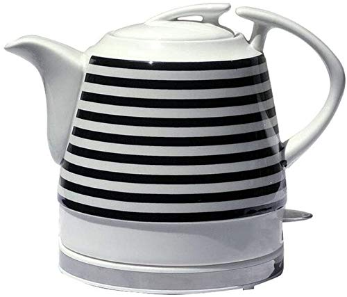 Vite, Céramique bouilloire électrique, sans fil eau Teapot 1.2liter, sans fil automatique de mise hors tension rapide ébullition, rapide Brew thé, soupe café, Bureau, Style vintage, B (Color : A)