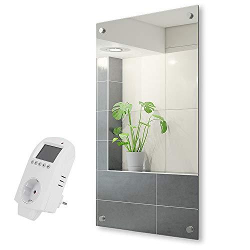 Eldstad Spiegel-Infrarotheizung 450 Watt + Thermostat Heizpaneel Wandheizung Heizung