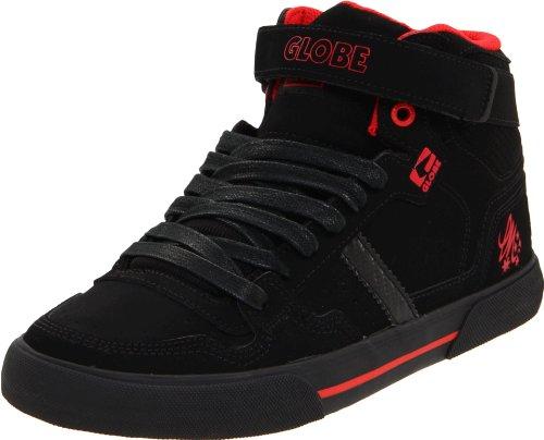 Globe Superfly-Vulcan Mens Black Nubuck Leather Skate Shoes Size UK 12