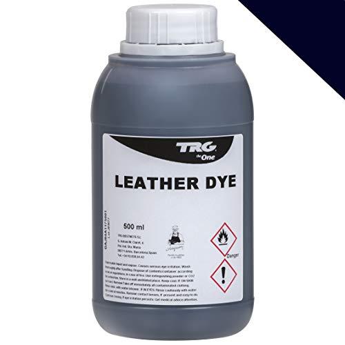 TRG Lederfarbe 500 ml für Glattleder und Kunstleder - Farbe wählbar, (Marineblau)