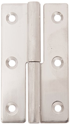 Sugatsune KN64L/SS Lift Off Hinge Stainless Steel 304 Polished Finish Left Handedness 15mm Leaf Thickness 36mm Open Width 75mm Pin Diameter