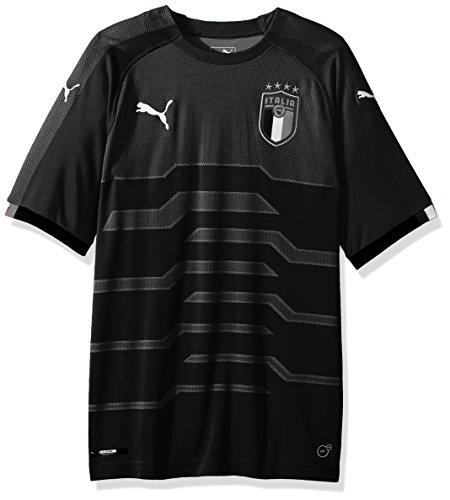 Puma FIGC Italia – playera de portero para hombre, Negro (PUMA BLACK), Large