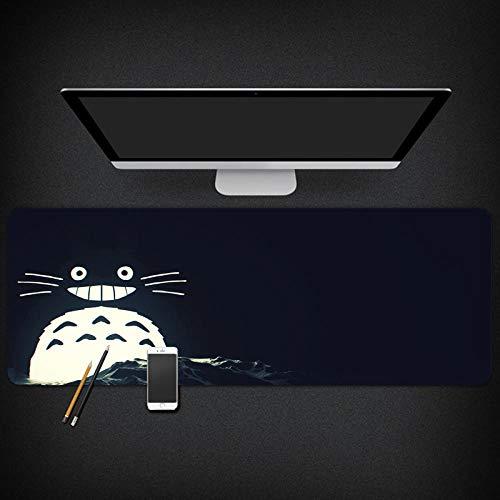 yinying Alfombrilla de ratón para Juegos,Alfombrilla de ratón para Mesa de Anime My Neighbor Totoro-Tipo B_300x800 mm_3 mm