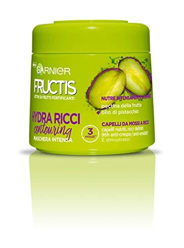 Garnier Fructis Hydra Ricci Maschera per Capelli da Mossi a Ricci, 300 ml