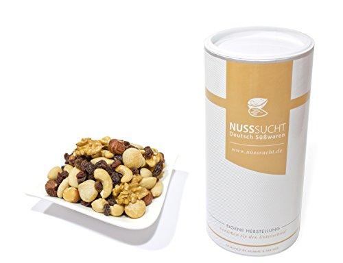 Nussmischung Studentenfutter, geröstet | Inhalt: 500g | Mandeln, Macadamia, Haselnüsse, Walnüsse und Rosinen | ohne Zusatz- und Konservierungsstoffe