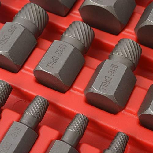 Xingshuoonline Acier Multi-spline Extracteur de vis de Lot de 25 pièces